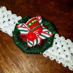 Other - 2/$16 Christmas stocking baby bow